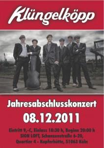 Flyer Jahresabschlusskonzert 2011