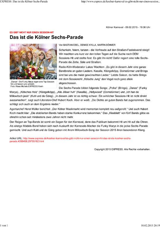 EXPRESS | Das ist die Kölner Sechs-Parade
