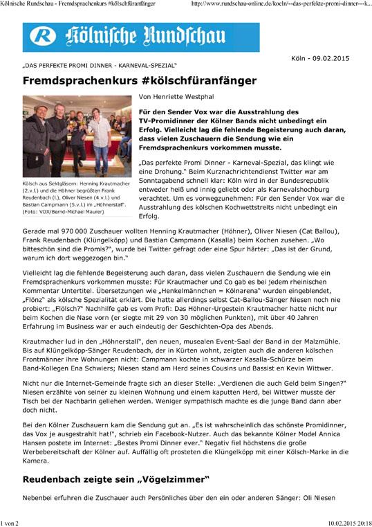 Kölnische Rundschau - Fremdsprachenkurs #kölschfüranfänger